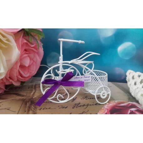 Marturii nunta bicicleta metalica cu cos mic