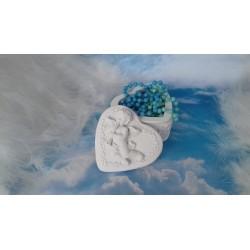 Marturie botez caseta din ceramica cu inger