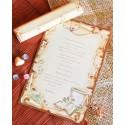 Invitatie botez papirus cu cristelnita DC15211
