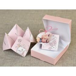 Invitatie botez origami Marie 15726