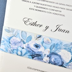 Invitatie nunta model floral acuarela 39305