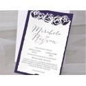 Invitatie nunta catifea 39348