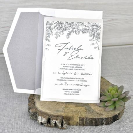 Invitatie nunta eleganta 39337