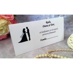 Plic de bani nunta cu mire si mireasa