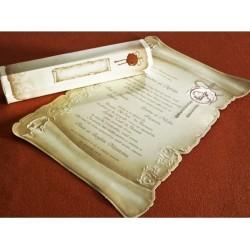 Invitatie nunta papirus 30114