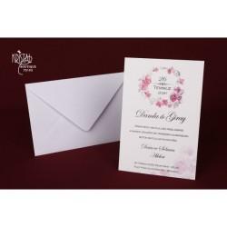 Invitatie nunta cu flori 70193