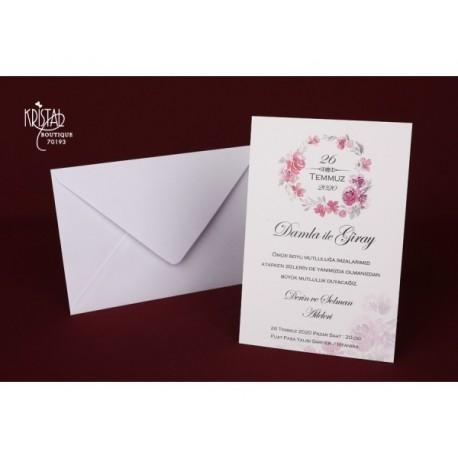 Invitatie De Nunta Ieftina Si Eleganta 70193 Cu Model Ilustrat Cu