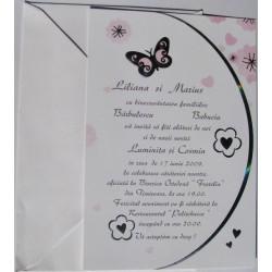 Invitatie nunta cu fluture 60305