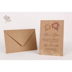 Invitatie nunta cu frunze 70173