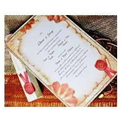 Invitatie nunta tip papirus 31313