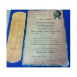 Invitatie nunta tip papirus 2207