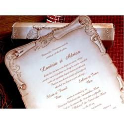 Invitatie nunta tip papirus 31328