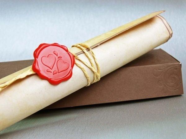 Invitatie De Nunta Tip Papirus 328302 Cu Sigiliu