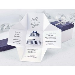 Invitatie nunta cutie 3D 39107