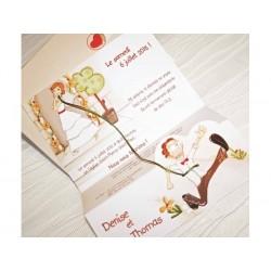 Invitatie nunta comica 32820