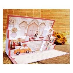 Invitatie nunta 3D 32416