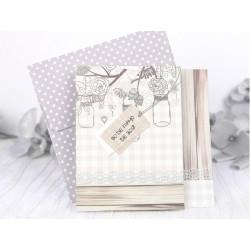 Invitatie nunta 3D rustica 39235